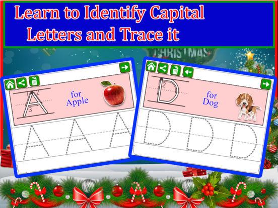 Alphabet Tracing Cursive & Numbers Christmas Game screenshot 6