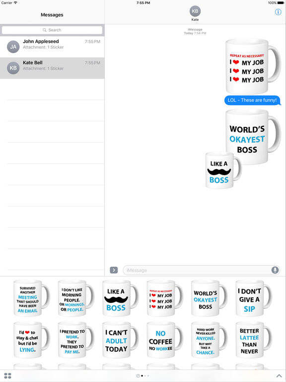 Coffee Cup Words of Wisdom Stickers screenshot 6