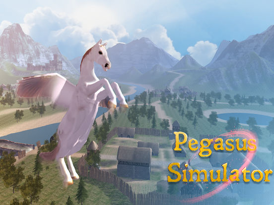 Flying Pegasus: Magic Horse Simulator 3D screenshot 8