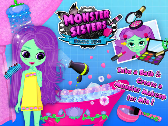 Monster Sisters 2 Home Spa - Rock Star Makeover screenshot 9