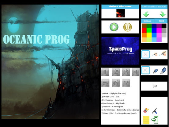 Oceanic Prog (Progressive Metal/Rock/Djent Album and Coloring) Side 1 screenshot 6