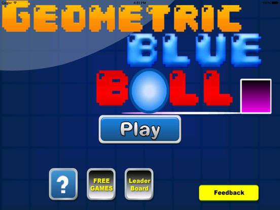 A Geometric Blue Ball PRO screenshot 6