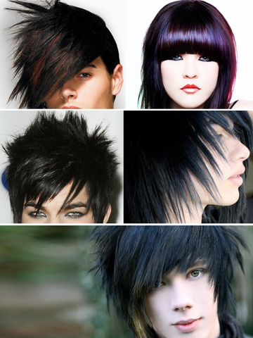 Emo Hair Art Designs, Men & Women Hairstyles Pics screenshot 8