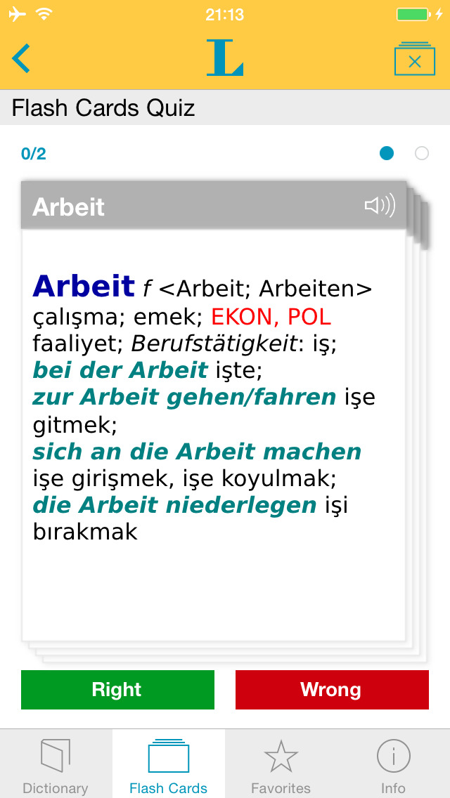 Turkish <-> German Dictionary Basic screenshot 3