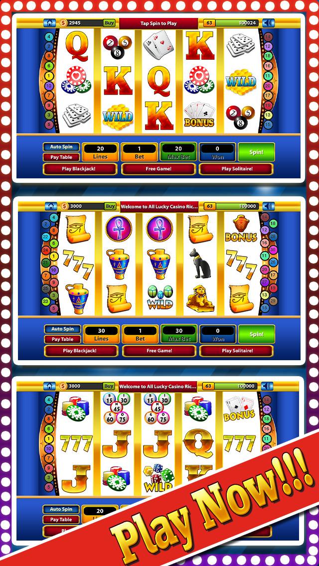 `Lucky Gold Rich Las Vegas Casino Coin Jackpot 777 Slots - Slot Machine with Blackjack, Solitaire, Bonus Prize Wheel screenshot 1