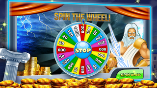 A Zeus Greek God High Roller Las Vegas Casino Slots Free screenshot 3