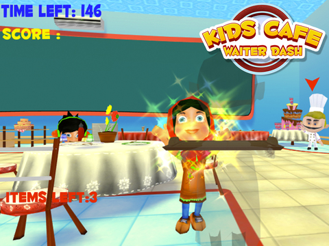Kids Cafe Waitress Dash screenshot 10
