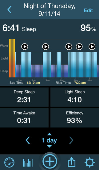 Sleeptracker® 24/7 screenshot 2