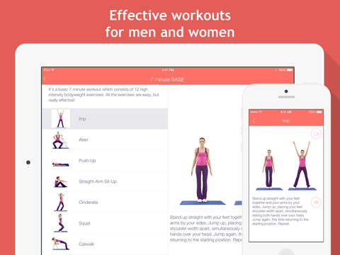 7 minute workouts: bodyweight training & high intensity exercises screenshot #3
