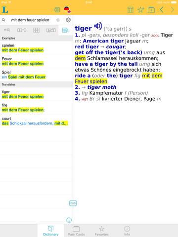 German English XXL Dictionary screenshot 7