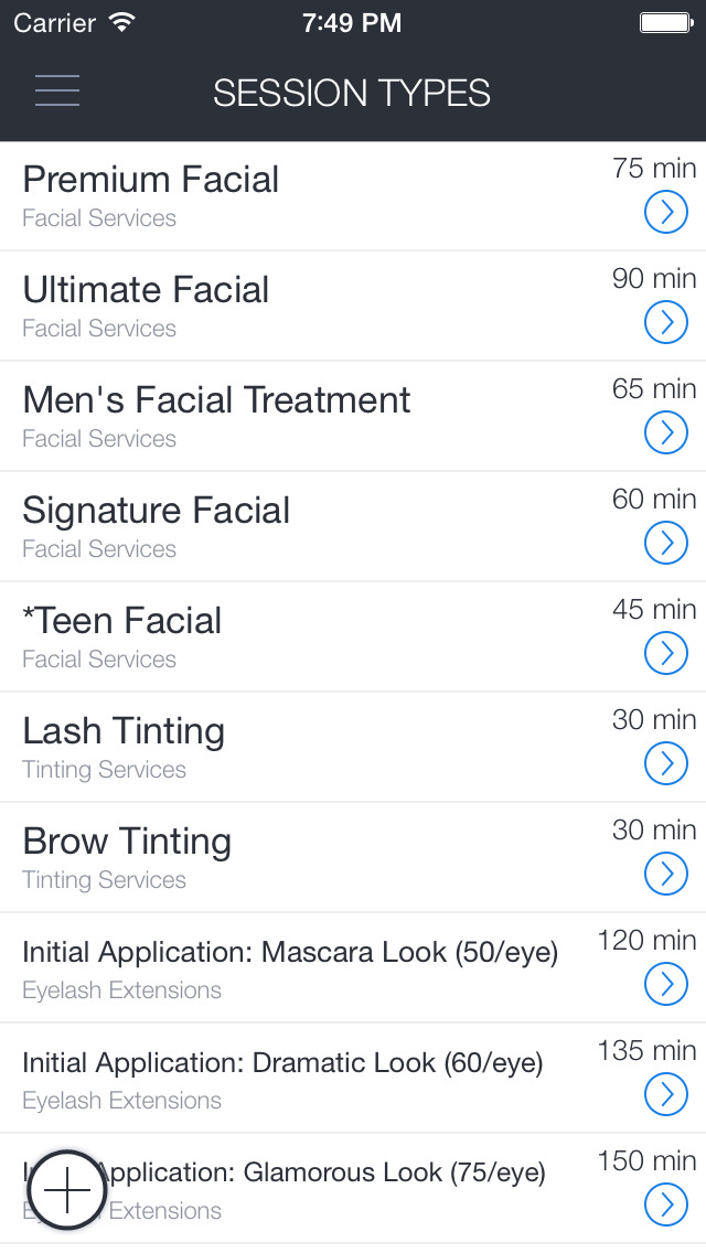 Face to Face Spa App screenshot 1