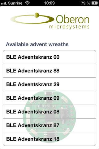 BLE Adventskranz - náhled