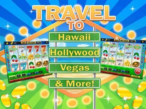 Ace Classic Vacation Slots Casino - Hawaii, Hollywood & Vegas Slot Machine Games Free screenshot 9