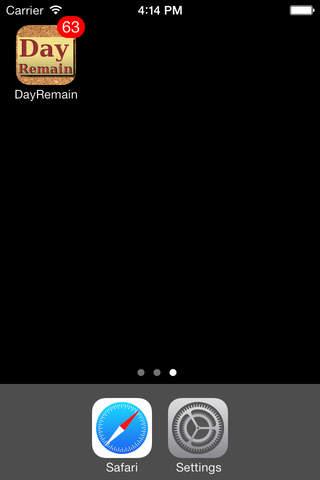 DayRemain - náhled