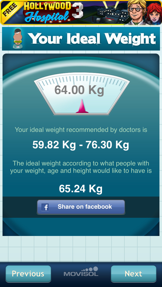 Your Ideal Weight: calculator for your losing diet + screenshot #4