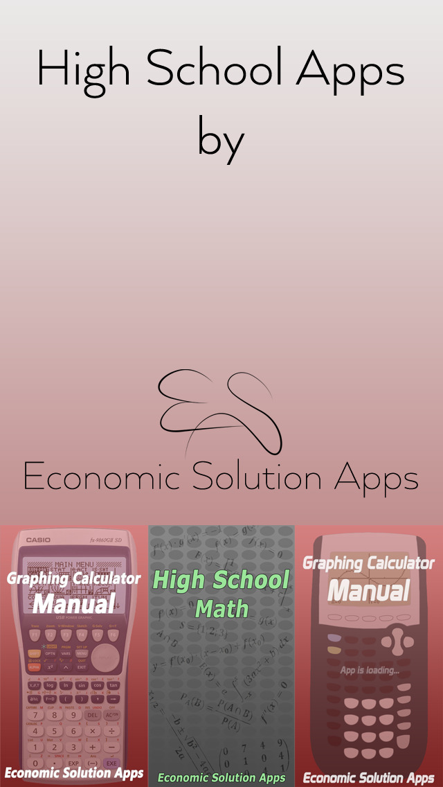 High School & College Apps Math - Manual for Graphing