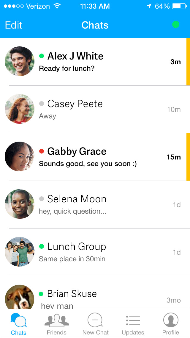 AIM: Chat, Free Text, Photo Share, Voice Message screenshot 2