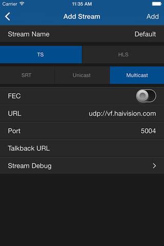 InStream Mobile - Media Player - náhled