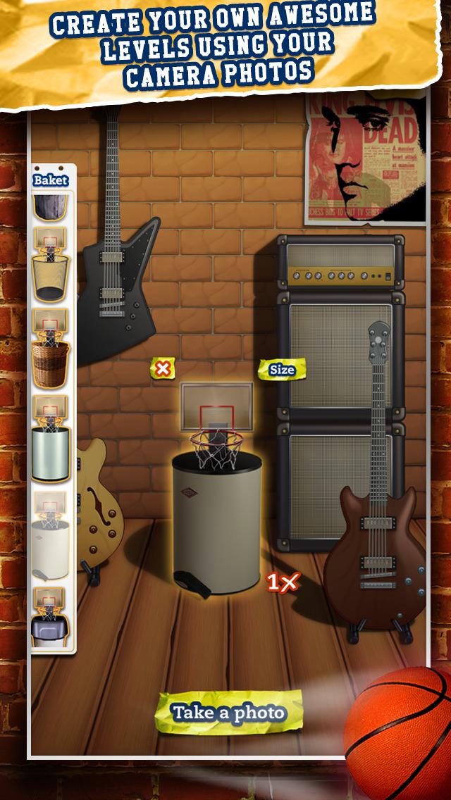 Basketball Paper Flick Pocket Pro 2 – The Top 2014 Free Basket Toss Arcade Games screenshot 5