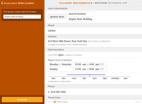 Wolfram Culinary Mathematics Reference App screenshot 9