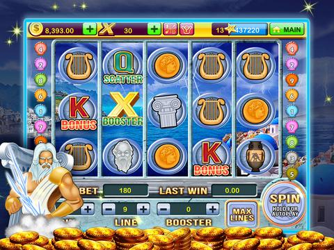 A Zeus Greek God High Roller Las Vegas Casino Slots Free screenshot 6