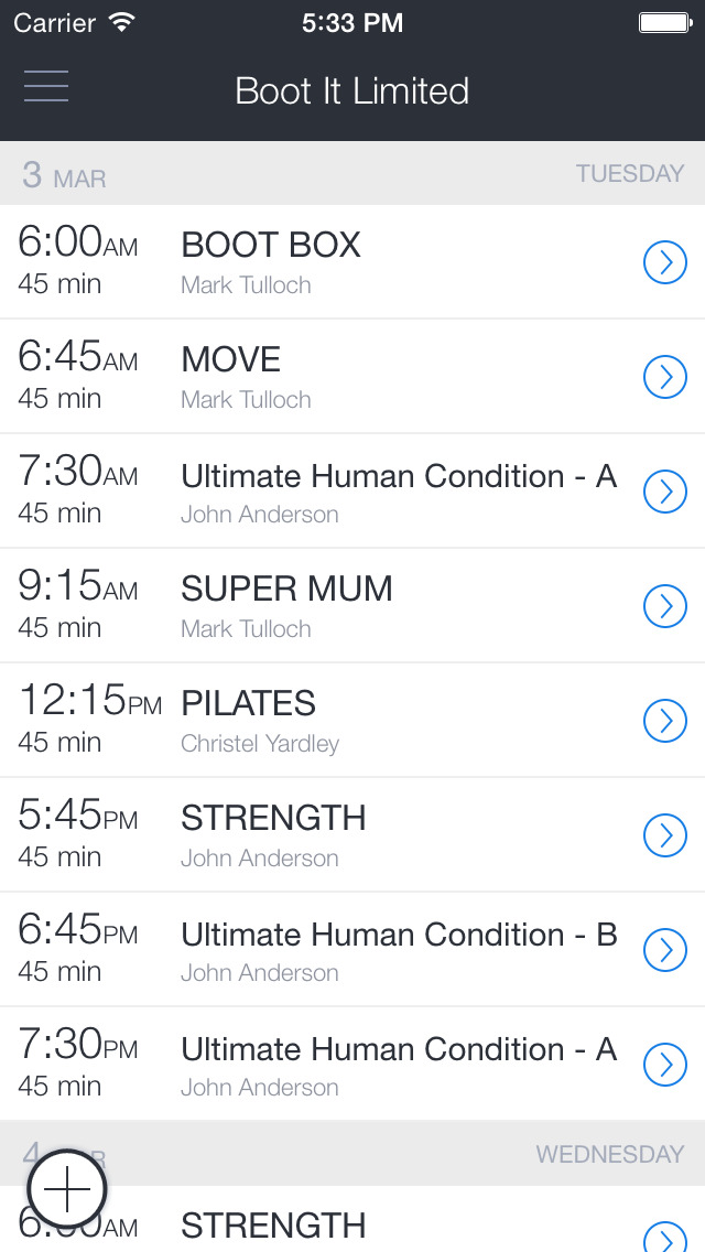 Boot It Fitness Hub screenshot 1