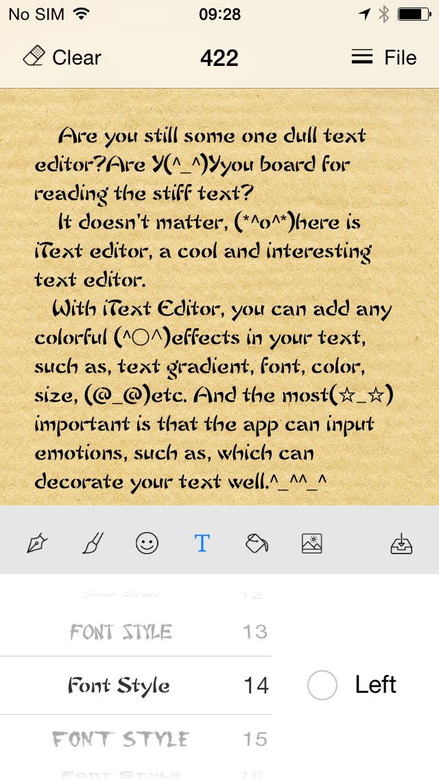 iText Editor HD for text effect, font effect screenshot 5
