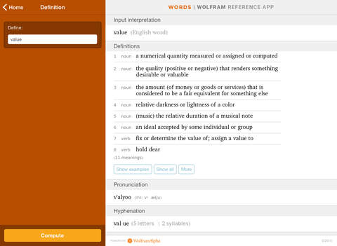 Wolfram Words Reference App screenshot 7