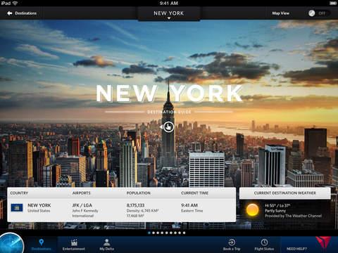 Fly Delta for iPad screenshot 2