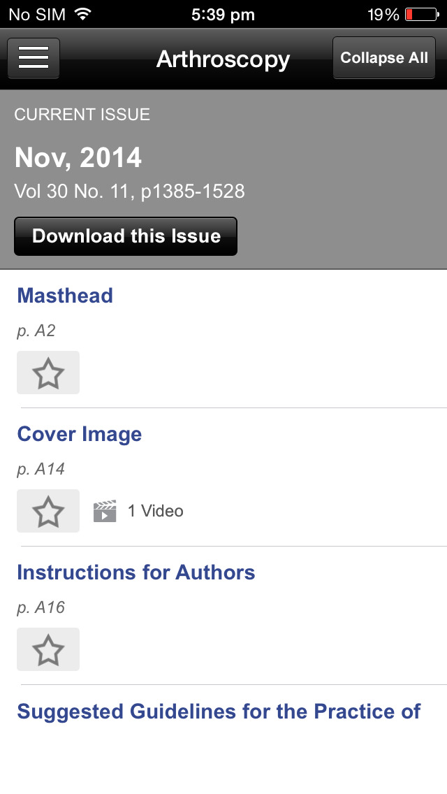 Arthroscopy Journal screenshot 5