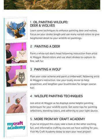 Oil Painting Wildlife: Deer & Wolves screenshot 7