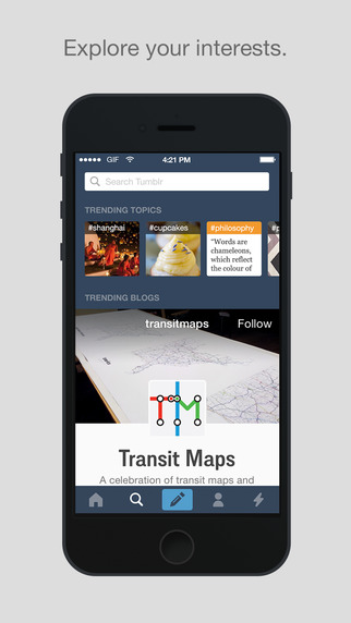 tumblr app for iphone on the app 8466