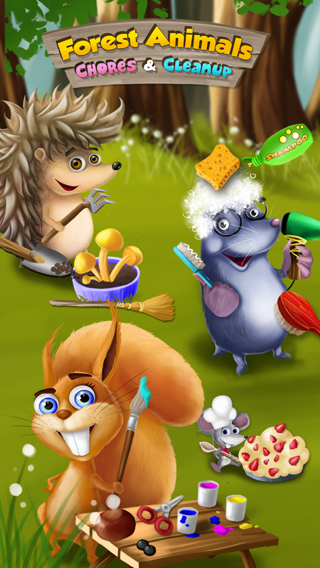 Forest Animals Chores and Cleanup - Arts, Crafts and Care screenshot 1