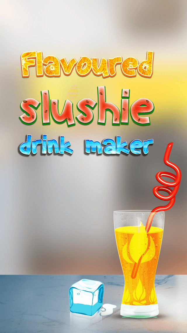 Flavored Slushie Drink Maker - cool kids smoothie drinking game screenshot 1