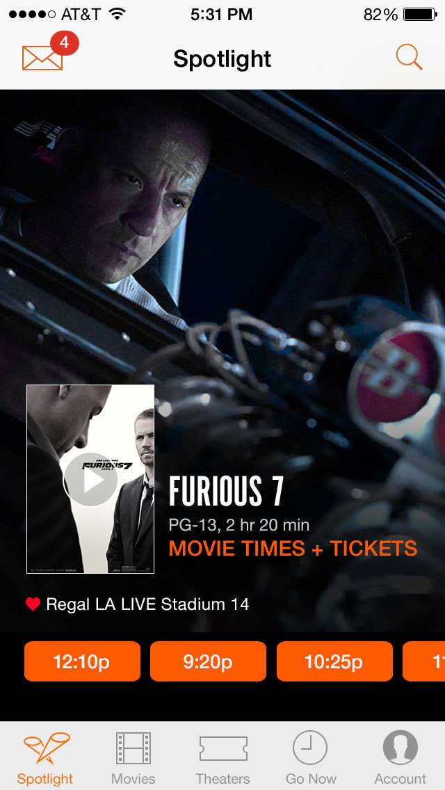 Fandango Movie Tickets & Times screenshot 1
