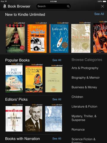 Amazon Kindle screenshot 8