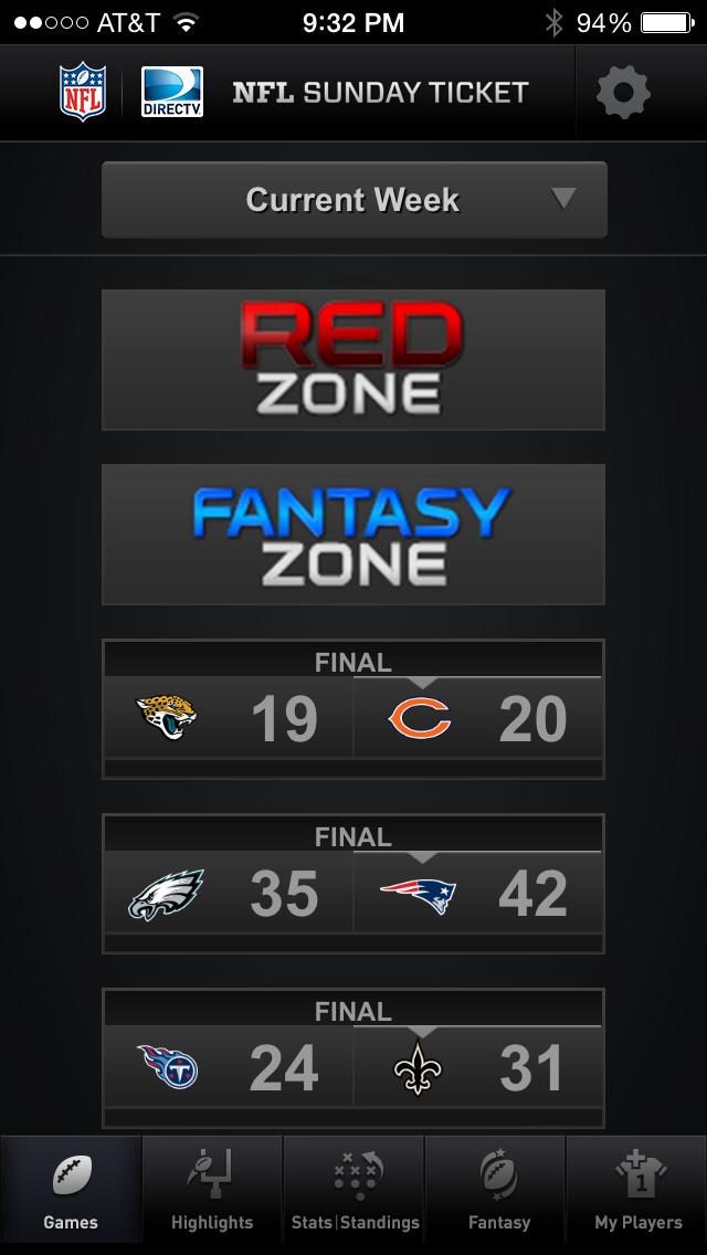 NFL SUNDAY TICKET screenshot 1