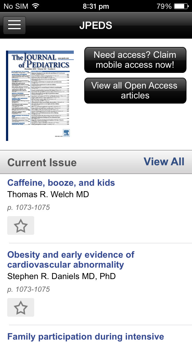 The Journal of Pediatrics screenshot 4