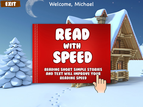 Teach Speed Reading Expert HD screenshot 1
