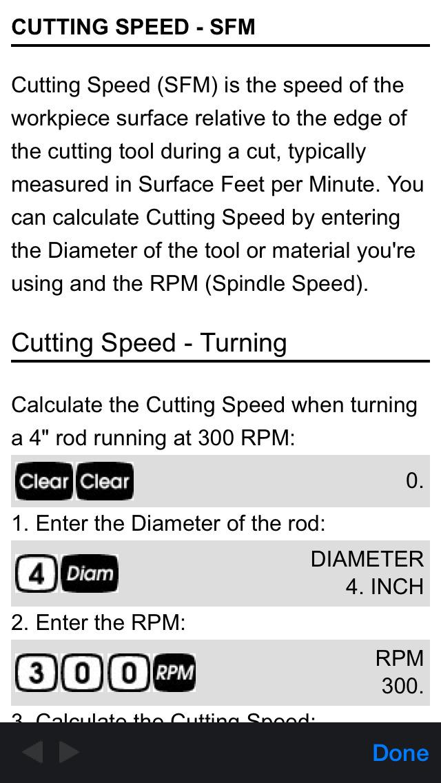 Machinist Calc Pro 2 screenshot 5