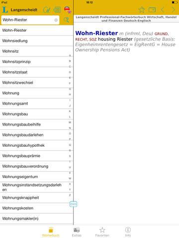 Wirtschaft, Handel und Finanzen Englisch<->Deutsch Fachwörterbuch Professional screenshot 10