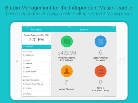Moosic Studio: Student & Music Studio Manager screenshot 1