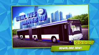 3D Real Bus Driver PRO - Realistic Car Driving and City Traffic Simulator screenshot 1