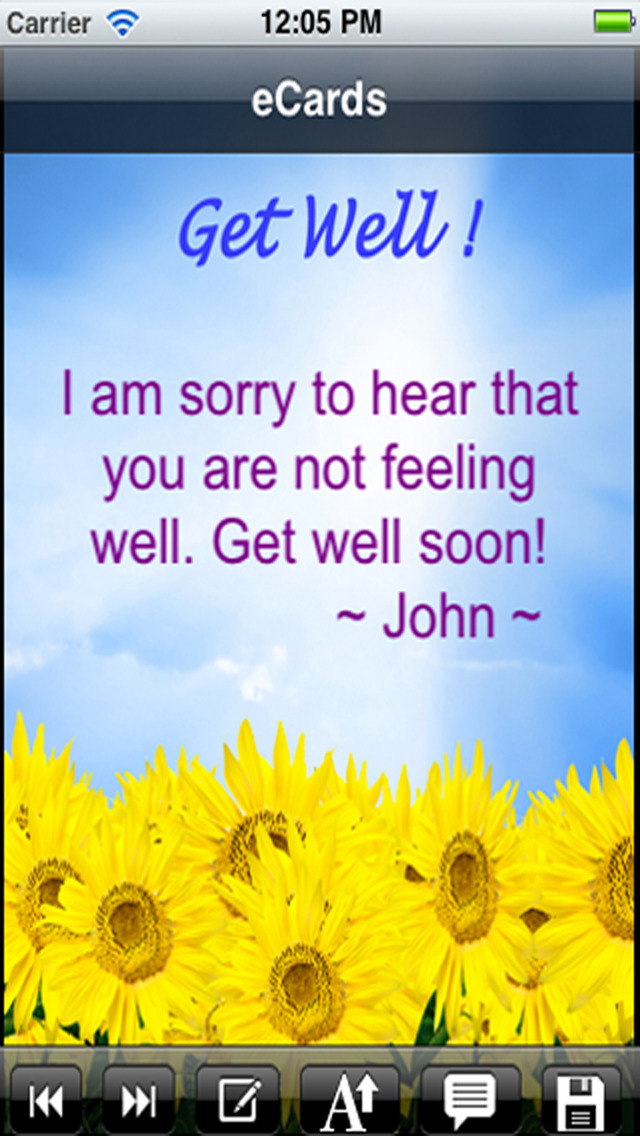Get Well Cards with photo editor. Send get well soon greetings card and custom get well ecards with text and voice messages ! screenshot 1