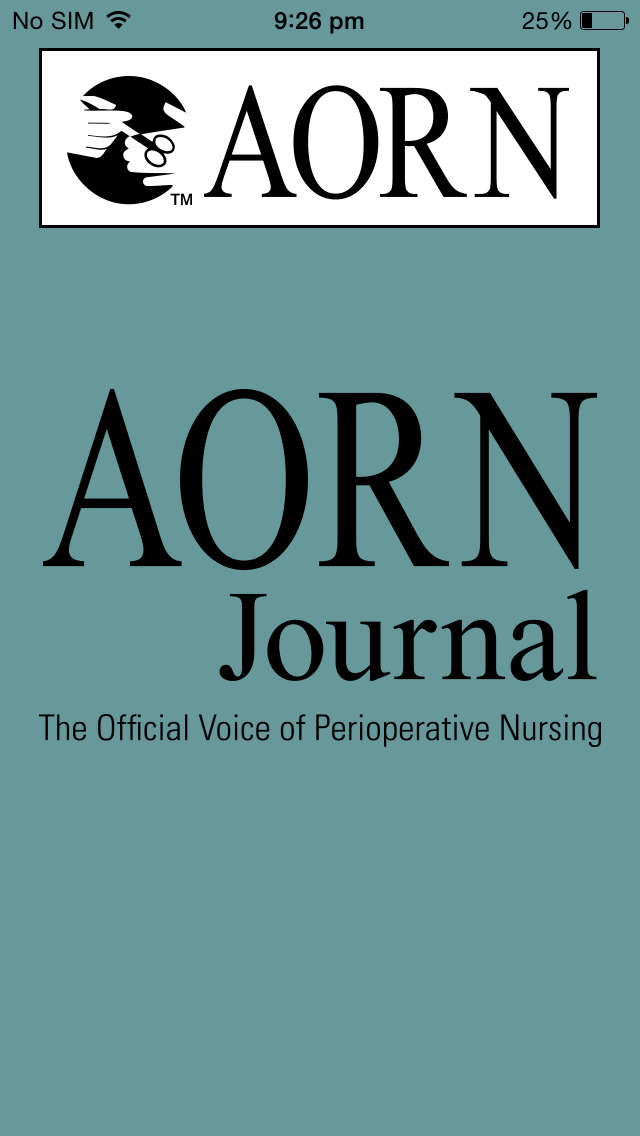 AORN Journal screenshot 1
