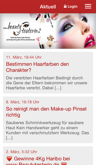 BeautyTesterin.de screenshot 1