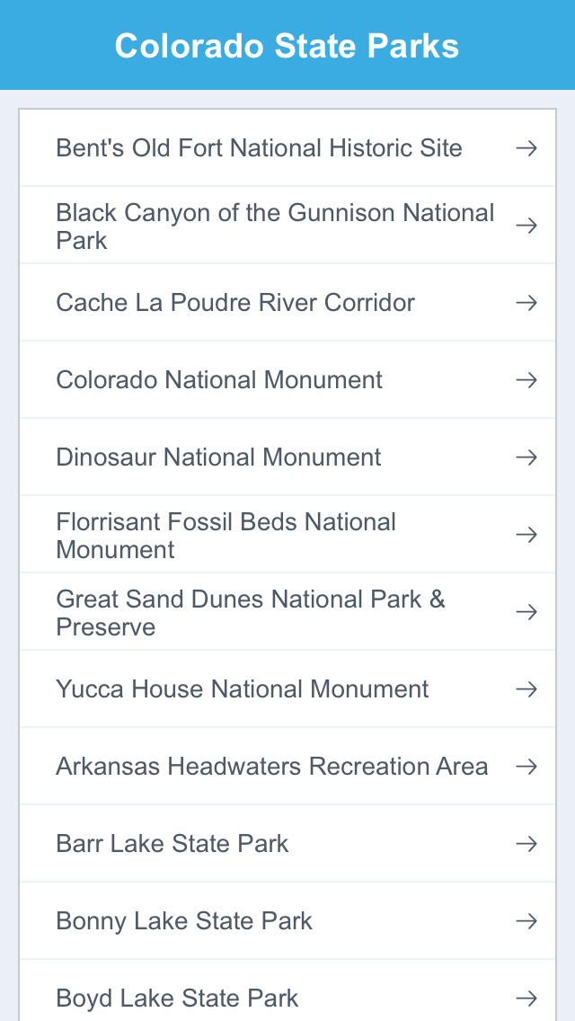 Colorado National Parks & State Parks screenshot 2