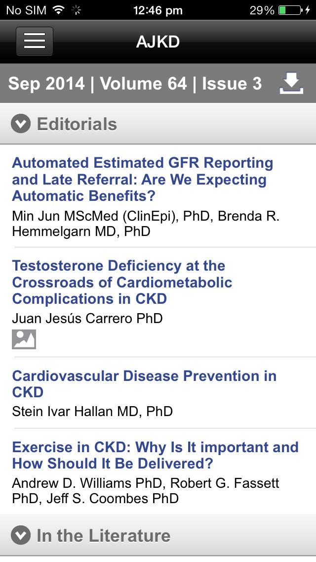 AJKD, The American Journal of Kidney Diseases screenshot 3