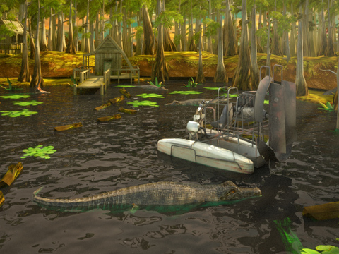 3D Swamp Parking PRO - Full Jet Boat Driving & Racing Version screenshot 9