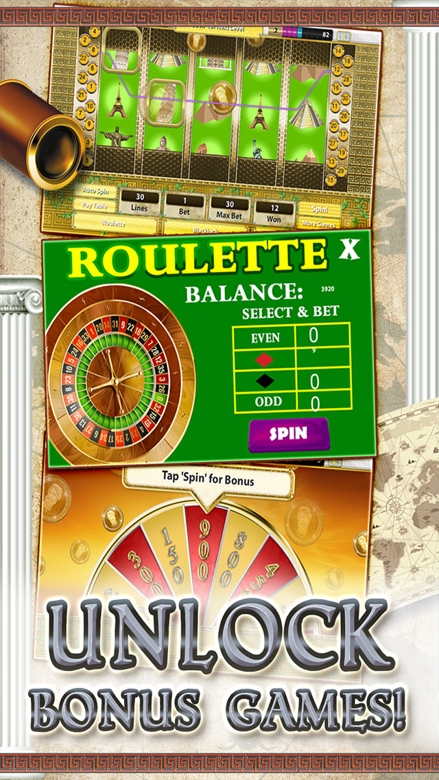 A Slots of Egypt vs Rome (Lucky Pharaohs Free Blackjack & Roulette Casino) - Fun Slot Machine Games screenshot 3
